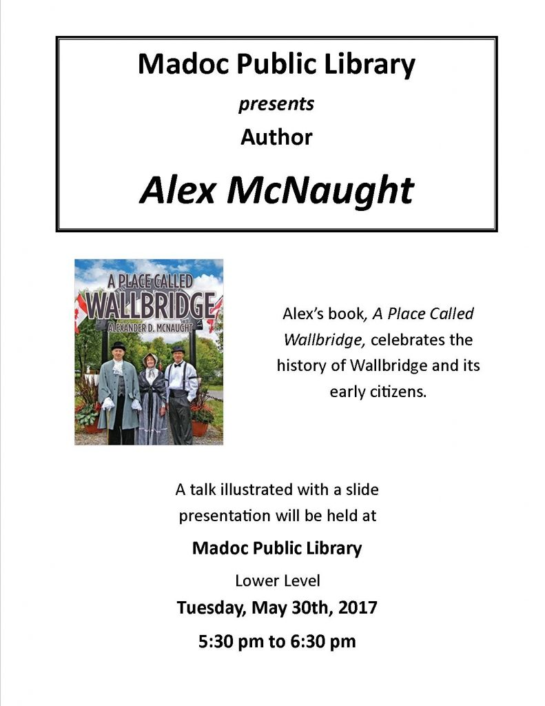 Author Visit - Alex McNaught - May 30th, 2017