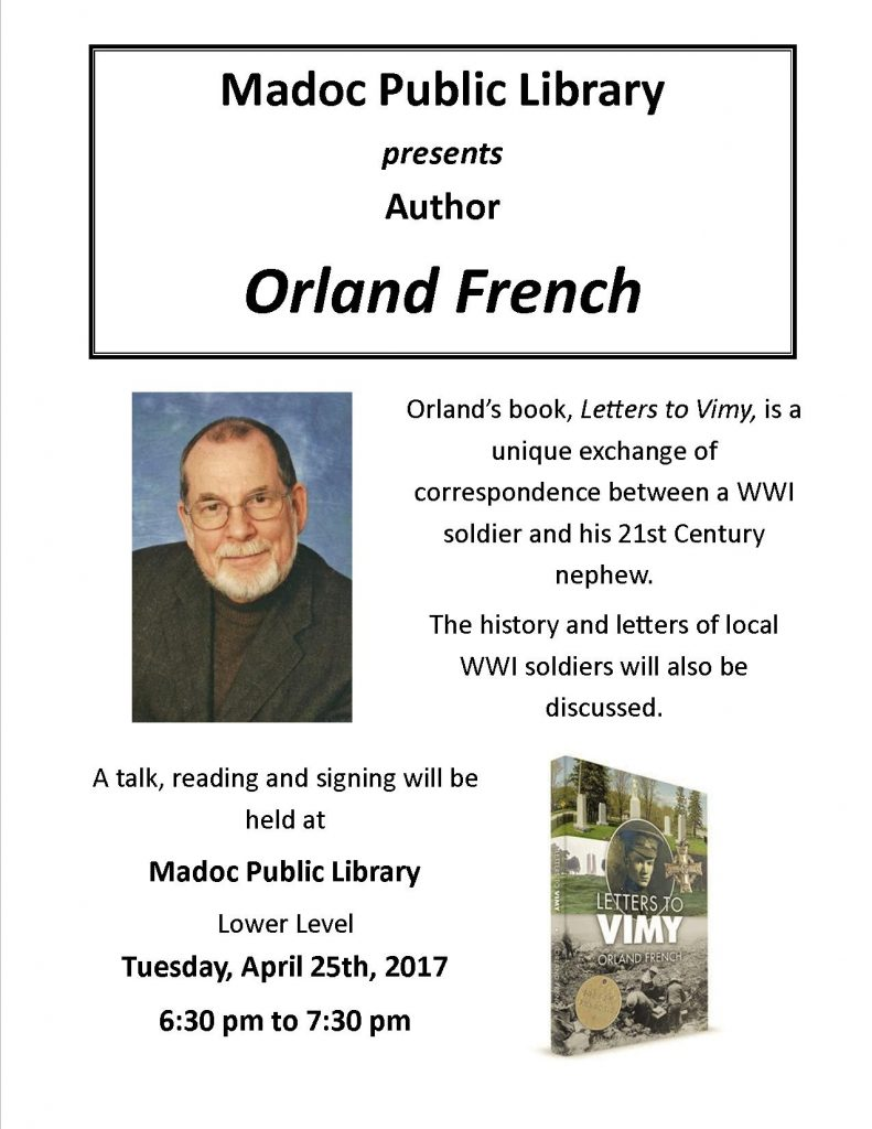 Author Visit - Orland French - April 25th, 2017