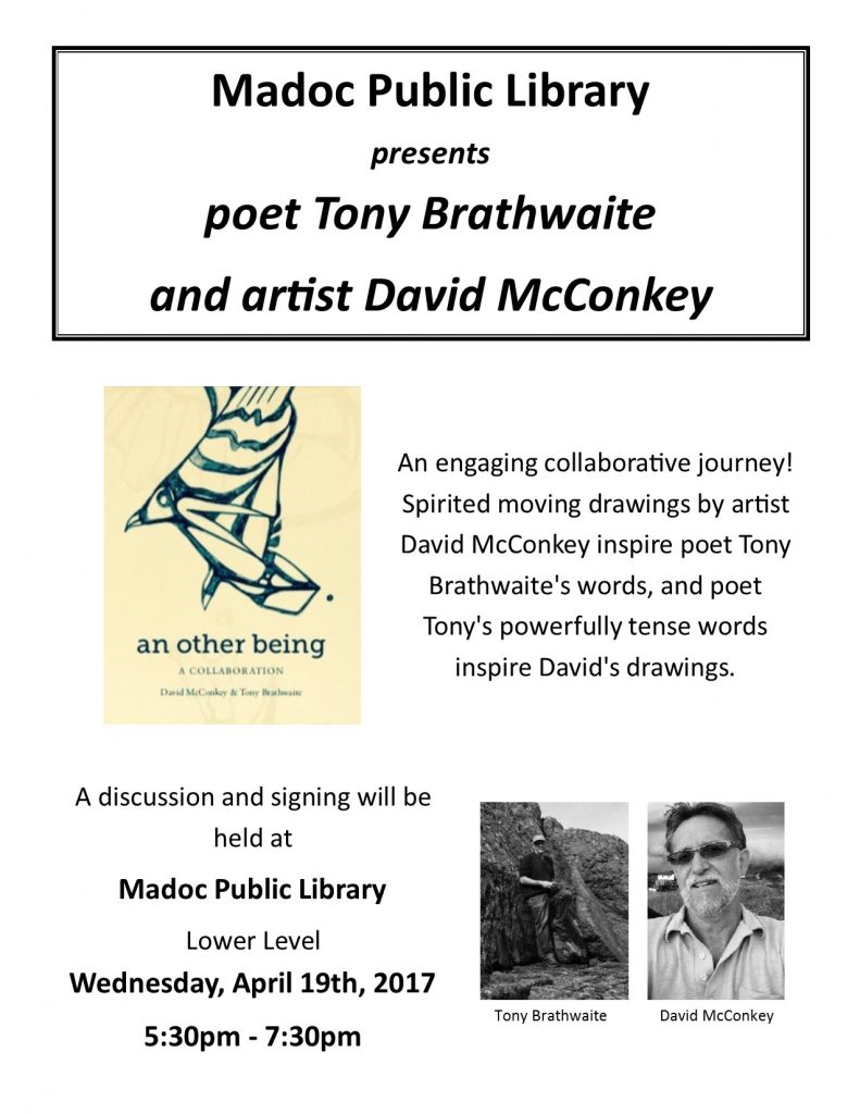 Author Event - Poet Tony Brathwaite and artist David McConkey