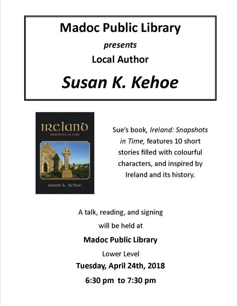 Sue Kehoe - Author Visit - April 24th 2018