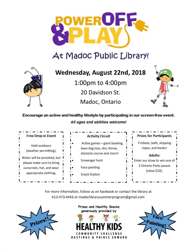 Power Off and Play Event - August 22nd, 2018 - 1pm to 4pm