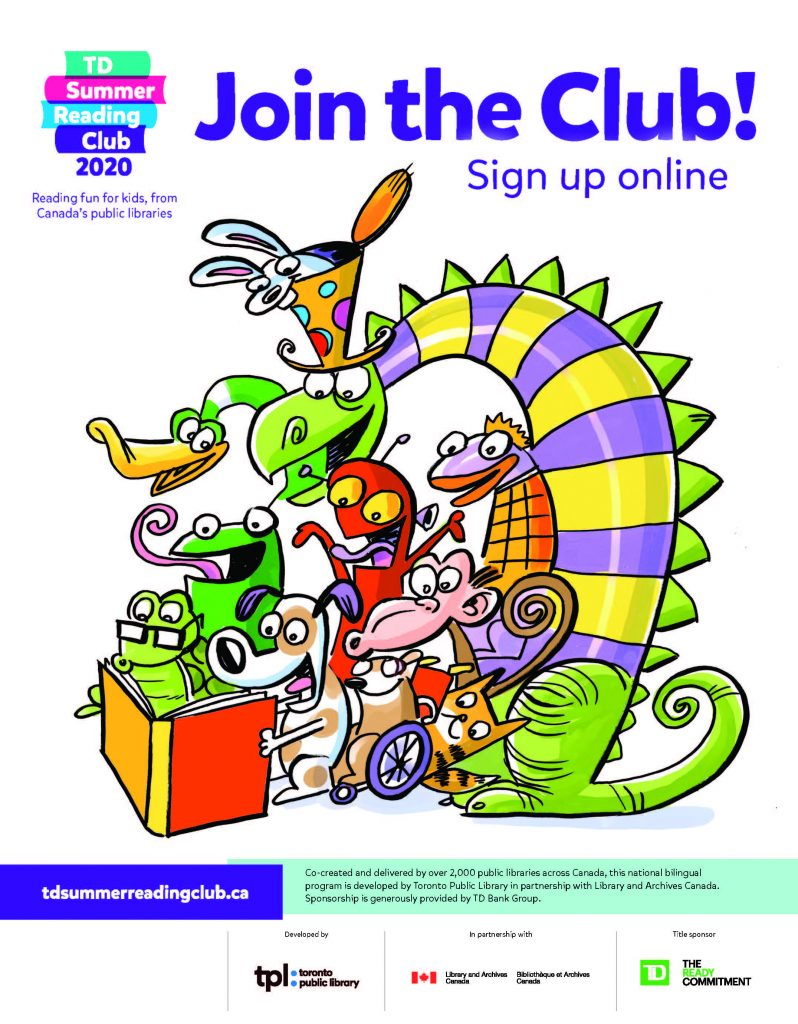 Poster - Sign up online at tdsummerreadingclub.ca to join the online program.